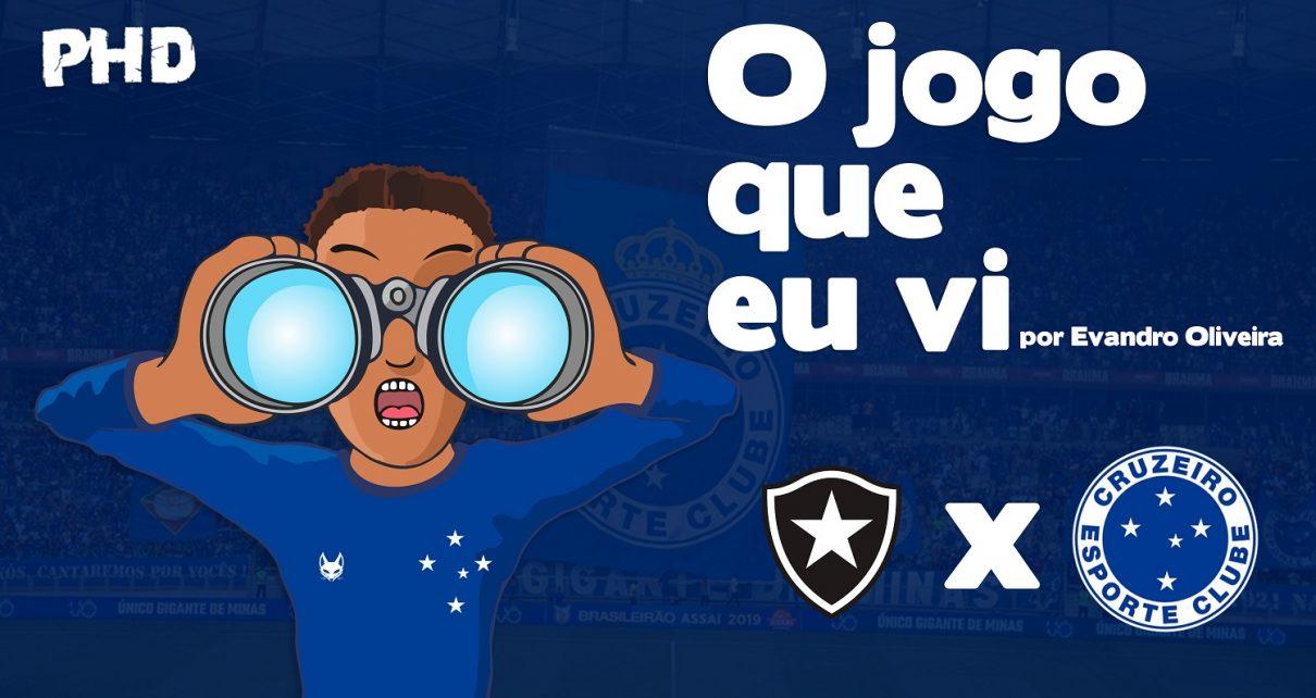 Botafogo x Cruzeiro - O jogo que eu vi